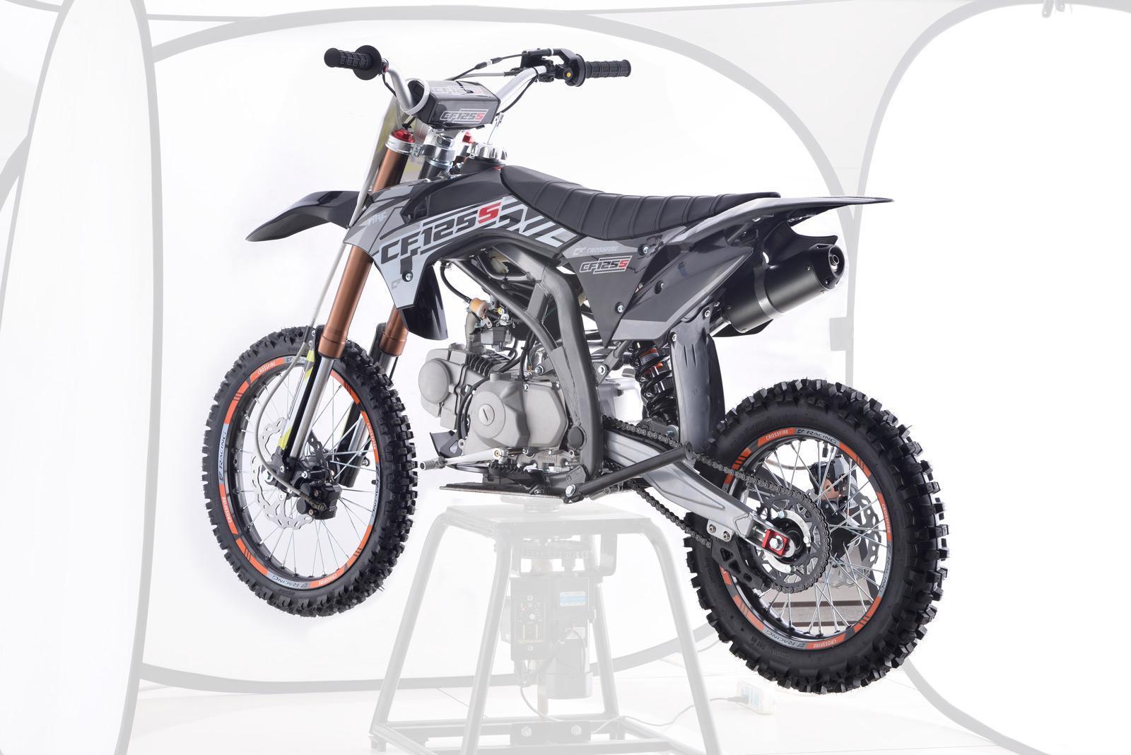 Crossfire CF125S Motorbike Black - dirt bikes store lockyer valley