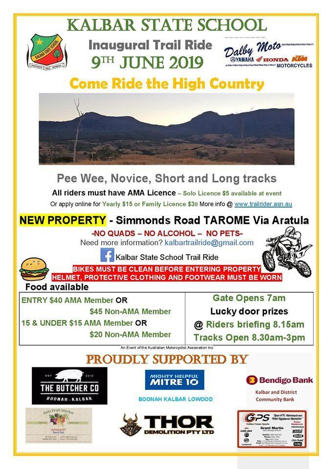 Dalby Inaugural Trail Ride 2019